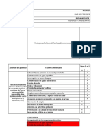 Lista de Chequeo Central Hidroelectrica