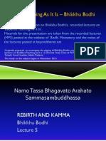 Rebirth and Kamma