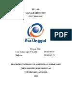 Tugas Manajemen Unit Dialisis