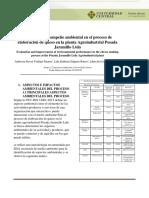 SEGUNDA ENTREGA DE PROYECTO Analisis del desempeño ambiental en el proceso de elaboración de queso en la planta Agroindustrial Posada Jaramillo Ltda