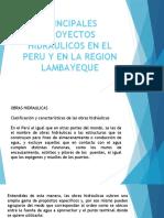 PRINCIPALES PROYECTOS HIDRAULICOS EN EL PERU Y EN