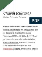 Chavín (cultura) - Wikipedia, la enciclopedia libre