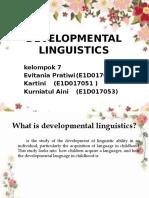 Developmental linguistic