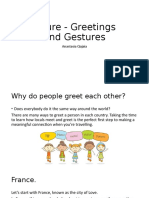 Culture-greetings and gestures