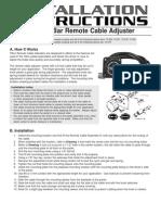 Tilton Remote Adjuster