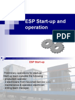 ESP Start-up and operation