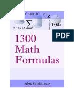Prontuario de formulación matemática