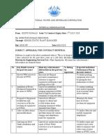 Contract Renewal Appraisal 2020 KIZITO