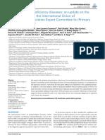 classification of primary immunodeficiencies