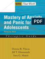 (Programs That Work) Donna B Pincus, Jill T Ehrenreich, Sara G Mattis-Mastery of Anxiety and Panic for Adolescents Riding the Wave, Therapist Guide -Oxford University Press, USA (2008)