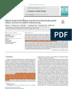 Optimaldesignandmodelingofgyroid-basedfunctionallygradedcellularstructuresforadditivemanufacturing
