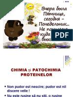 3Chimia, patochimia proteinelor
