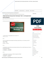 2018 General Education Reviewer Part 3_ 50 Questions with Answers - LET EXAM - Questions & Answers