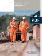 Brochure Elastic Solutions for Use in the Railway Superstructures En