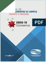 Manual de Procedimentos de Limpeza Covid-19 da Abralimp BRASIL