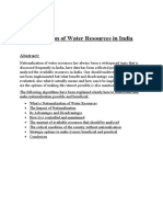 Nationalization Of Water Resources.docx