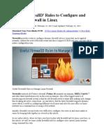 firewall linux 7