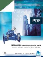 BERMAD Abastecimiento de agua. Válvulas de control hidráulicas Series 700 y 800. Soluciones de control de agua