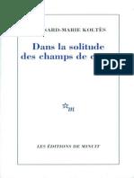 Dans la solitude des champs de coton - Koltes, Bernard-Marie.epub