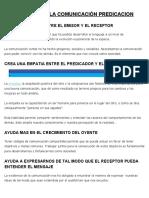 IMPORTANCIA DE LA COMUNICACIÓN PREDICACION