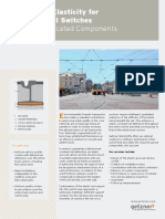 Fact Sheet Graduated Elasticity for Grooved Rail Switches En