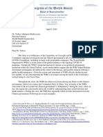 Oversight Letter to WHO