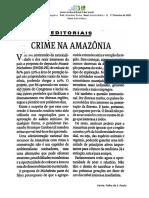Tarefa 14 – Crime na Amazônia