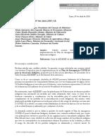 Oficio Múltiple Nº 003-2020-LFBV-CR