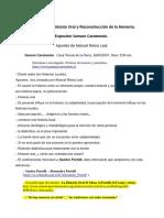 Taller sobre Historia Oral reconstrucción de la memoria-Genaro Carotenuto