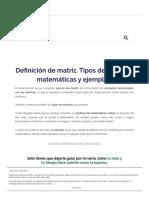 ▷ Definición de matriz. Tipos de matrices matemáticas y ejemplos_