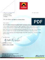 Ruto's Letter