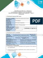 Guía de actividades y rúbrica de evaluación -  Fase 2 - Planeación