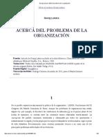 Georgy Lukacs (1923)_ El problema de la organización_