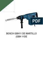 BOSCH GBH11 DE MARTILLO