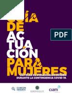 Guía de actuación para mujeres víctimas de violencia de género durante la contingencia COVID-19.