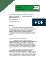 LÓPEZ, M. y L. CARAMÉS. 2003. La conservación de la cerámica en los proyectos de investigación arqueológica.pdf