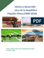 Crecimiento y Desarrollo Económico de la República Popular China (1990-2018)
