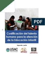 2 PARTE Cualificación del Talento Humano para la Atención de la Educación Infantil