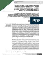 Direitos Fundamentais, dignidade humana e jurisdicição constitucional entre laudatórias e inefetividades
