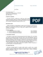 Informe psicológico de Luis Fabian
