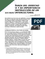 Jose L. Lopez. La enseñanza del derecho indígena..pdf