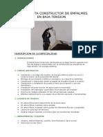 ELECTRICISTA CONSTRUCTOR DE EMPALMES EN BAJA TENSION
