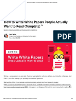 How to Write White Papers People Want to Read