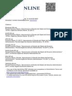 Aproximación al estudio del objeto del dercho administrativo
