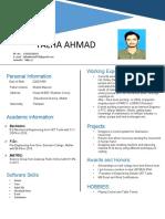 CV-Talha Ahmad