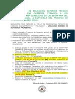 CONVOCATORIA TITULACIÓN  2020-I