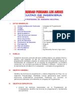 LENGUAJE DE PROGRAMACION II 2013 1