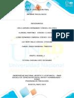 Psicopatología de la Adultez y Vejez-Informe psicologico. GRUPO (403008A_611)