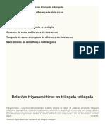 Trigonometria - Seno da soma e seno da diferença de dois arcos
