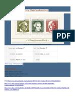 Catálogo Selos Comemorativos INTERNACIONAL